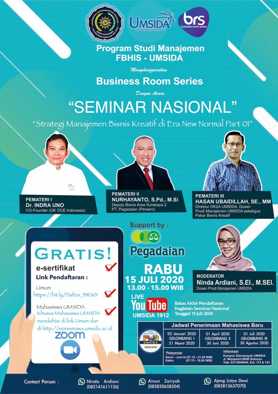 Strategi Manajemen Bisnis Kreatif Di Era New Normal Series 01 Fakultas Bisnis Hukum Dan Ilmu Sosial